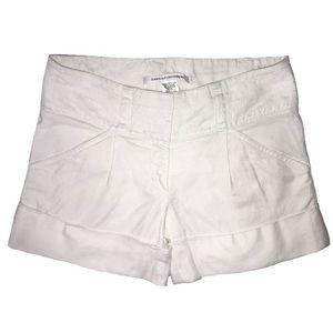 Diane Von Furstenburg High Waist Linen Shorts